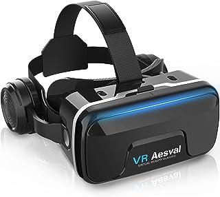 【令和3年最新】 VRゴーグル VRヘッドセット VRヘッドマウントディスプレイスマホ用 エレコム超広角120° 焦点距離&瞳孔間距離調整可 4.7-6.5インチスマホ対応 遠視/近視適用 3Dグラス 非球面光学レンズ 眼鏡対応メガネオン人対応...