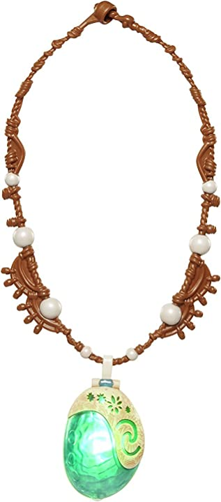 Collana magica di vaiana per bambini, taglia unica, 4696 jakks pacific- magical seashell necklace disney ocean