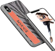 iPhone Xs Max Case Cover, Rebex iPaky Thin Slim Fit Shock Absorbing Protective Bumper Frame Knitted Fabric Non-Slip Heavy Grip Fashion Protection for iPhone Xs Max (Grey Orange)