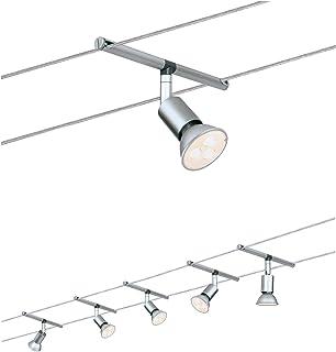 Paulmann 941.24 Spice SaltLED Système d'éclairage à spots - Spots LED sur cäble tendu avec 5 lumières, câble de 10 m & tra...