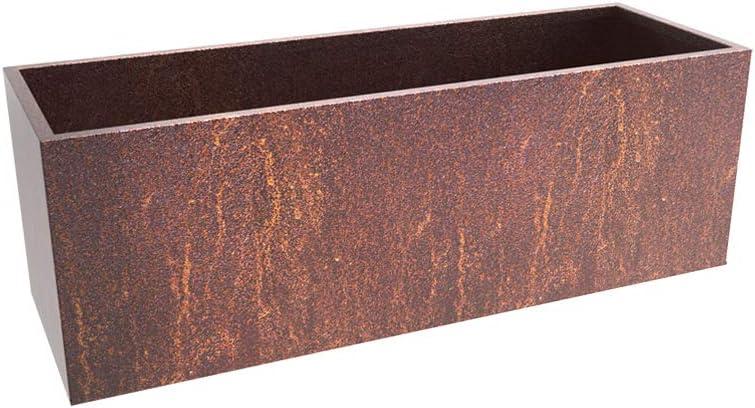 ギフト MK Design Elements Corten お見舞い Steel 44x15x15 Planter Box