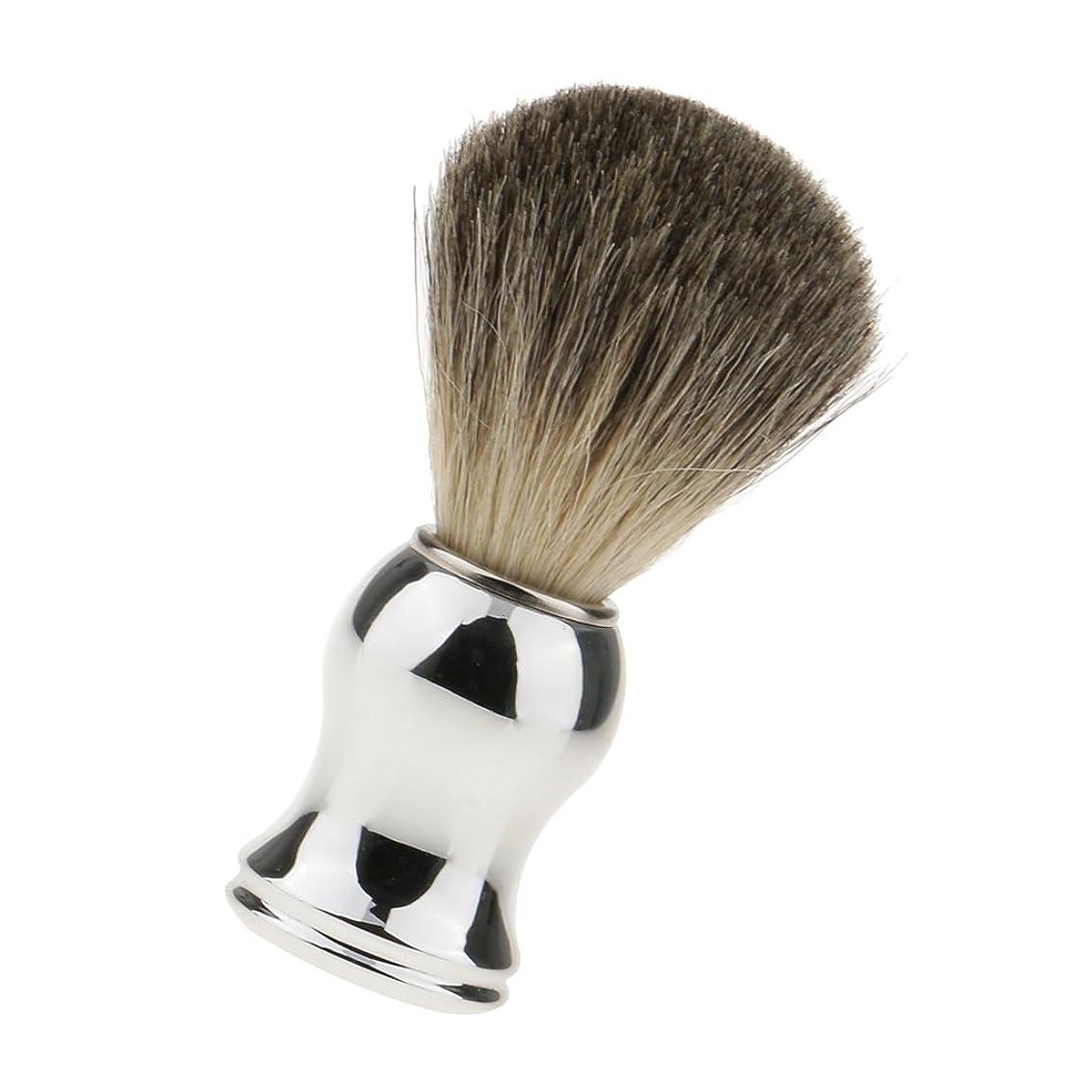 アニメーション分析的ドロップchiwanji シェービング用ブラシ 人工毛 メンズ 理容 洗顔 髭剃り 泡立ち 11.2cm 全2色 - シルバーハンドル