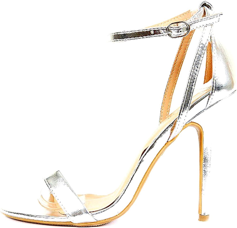 Wild Diva Women's Fashion High Heel Sandal Ankle Strap Sandal