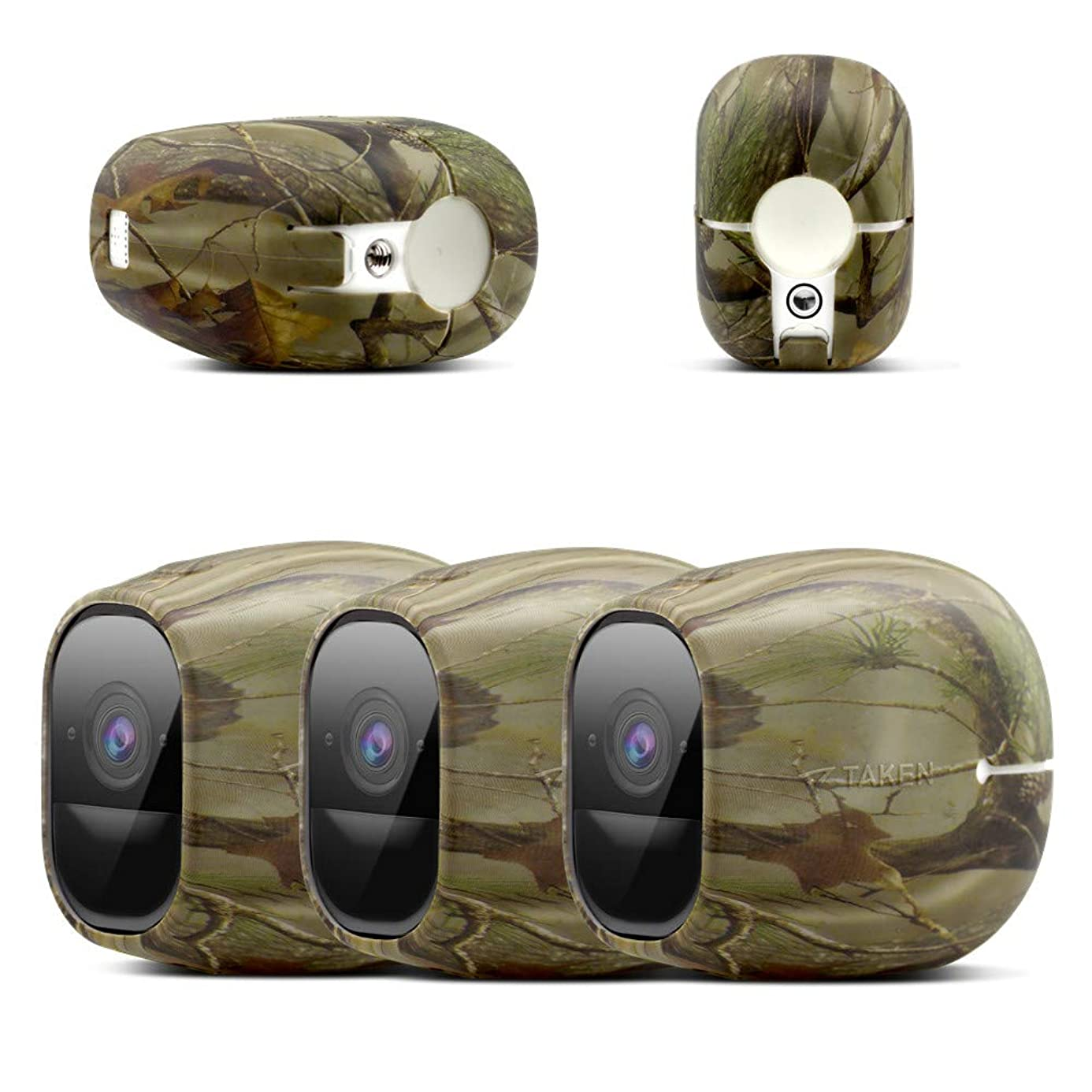 Silicone Skins Compatible with Arlo pro,Arlo pro 2 Smart Security Home Camera, Taken Silicone Skins Case Cover for Arlo pro & Arlo pro 2 Smart Security Wire-Free Cameras, 3 Pack, Camouflage