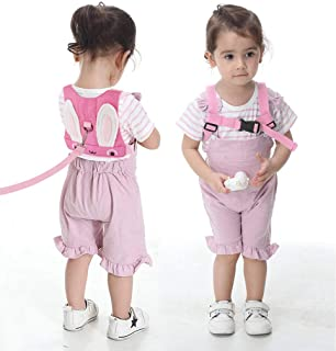 Idefair Kids Harness Kids Walking Leash Safety,Baby Anti Lost Safety Harness,Toddler Harness Safety Leashes for 1-5 Years Old Boys and Girls - Pink