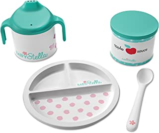 """Manhattan Toy Baby Stella Darling Dish Baby Doll Accessories Set for 12"""" and 15"""" Soft Dolls"""