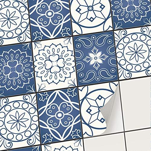 creatisto Fliesenaufkleber Fliesenfolie Mosaikfliesen - Selbstklebende Fliesen Folie I Stickerfliesen - Mosaikfliesen für Küche, Bad, WC Bordüre (15x20 cm I 6 -Teilig)