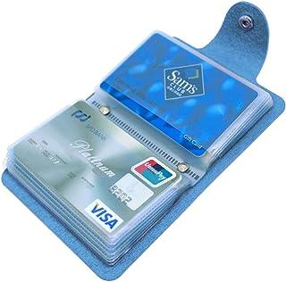 Mocasor Credit Card Holder for Women Men Bank Card Case (Blue)