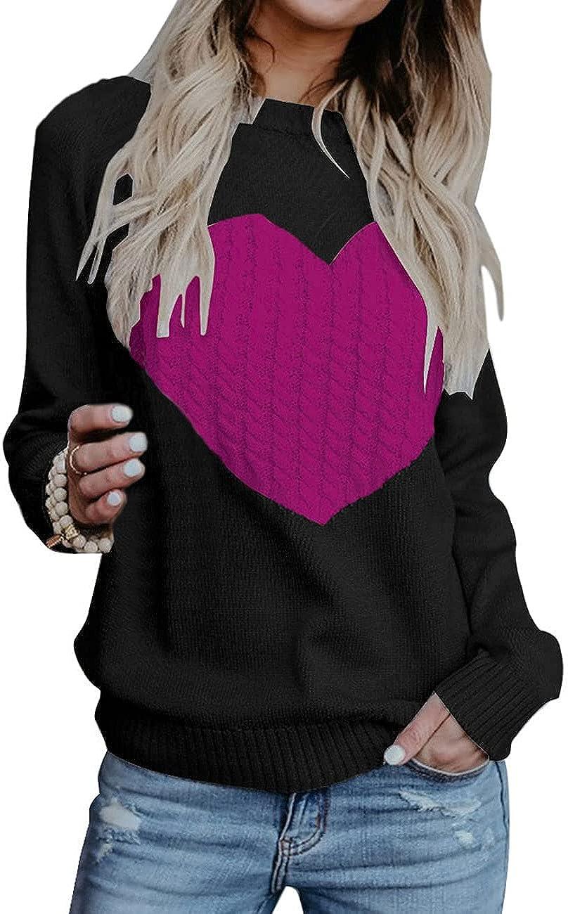 Cogild Women's Pullover Sweater Bargain New York Mall Long Sleeve Crewneck Jumper Cabl