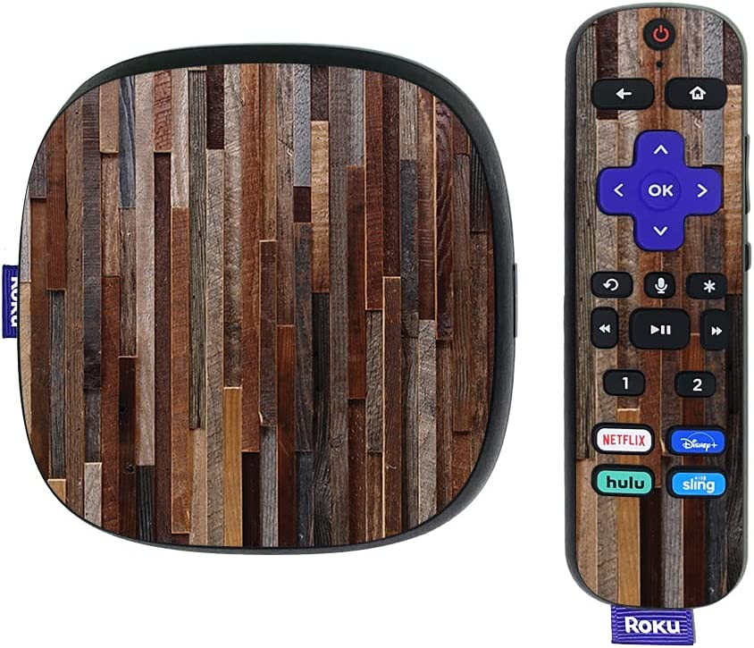 MightySkins Skin Compatible with Roku Ultra HDR 4K Streaming Media Player (2020) - Woody | Protective, Durable, and Unique Vinyl Decal wrap Cover | Easy to Apply, Remove, | Made in The USA