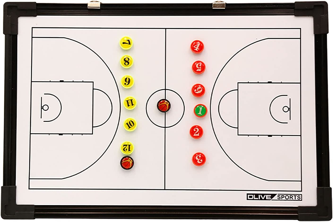 YOGAA Double Sided Magnetic Coaches Tactic Board with Dry Eraser