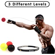 Miacooo Boxing Reflex Ball Fight Ball Reflex Boxing Equipment Punching Ball 3 Difficulty Level...