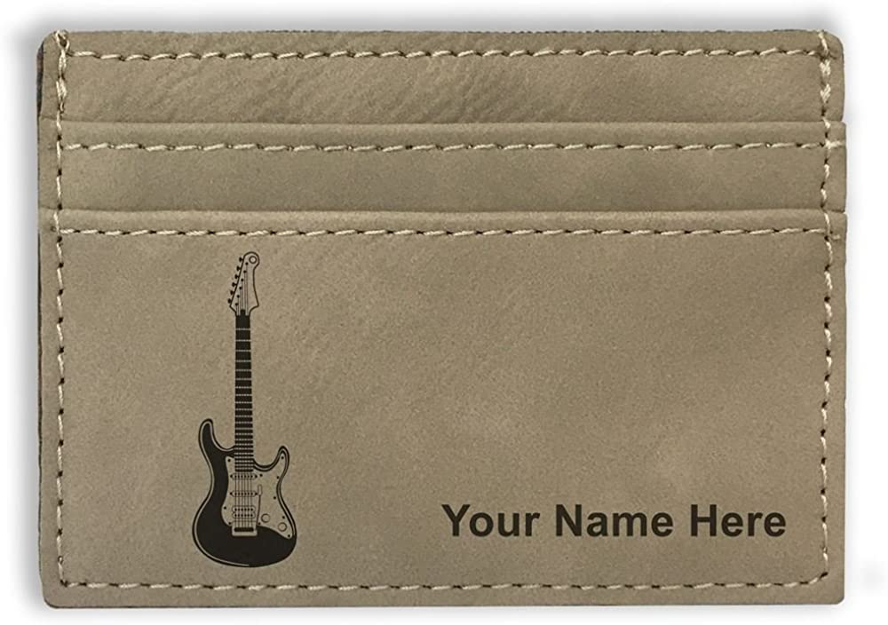 Money Clip Wallet, Electric Guitar, Personalized Engraving Included