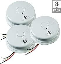 Kidde 21010407-A i12010S Worry-Free Smoke Alarm With Sealed Lithium Battery Backup 120 Volt AC - 3 Pack