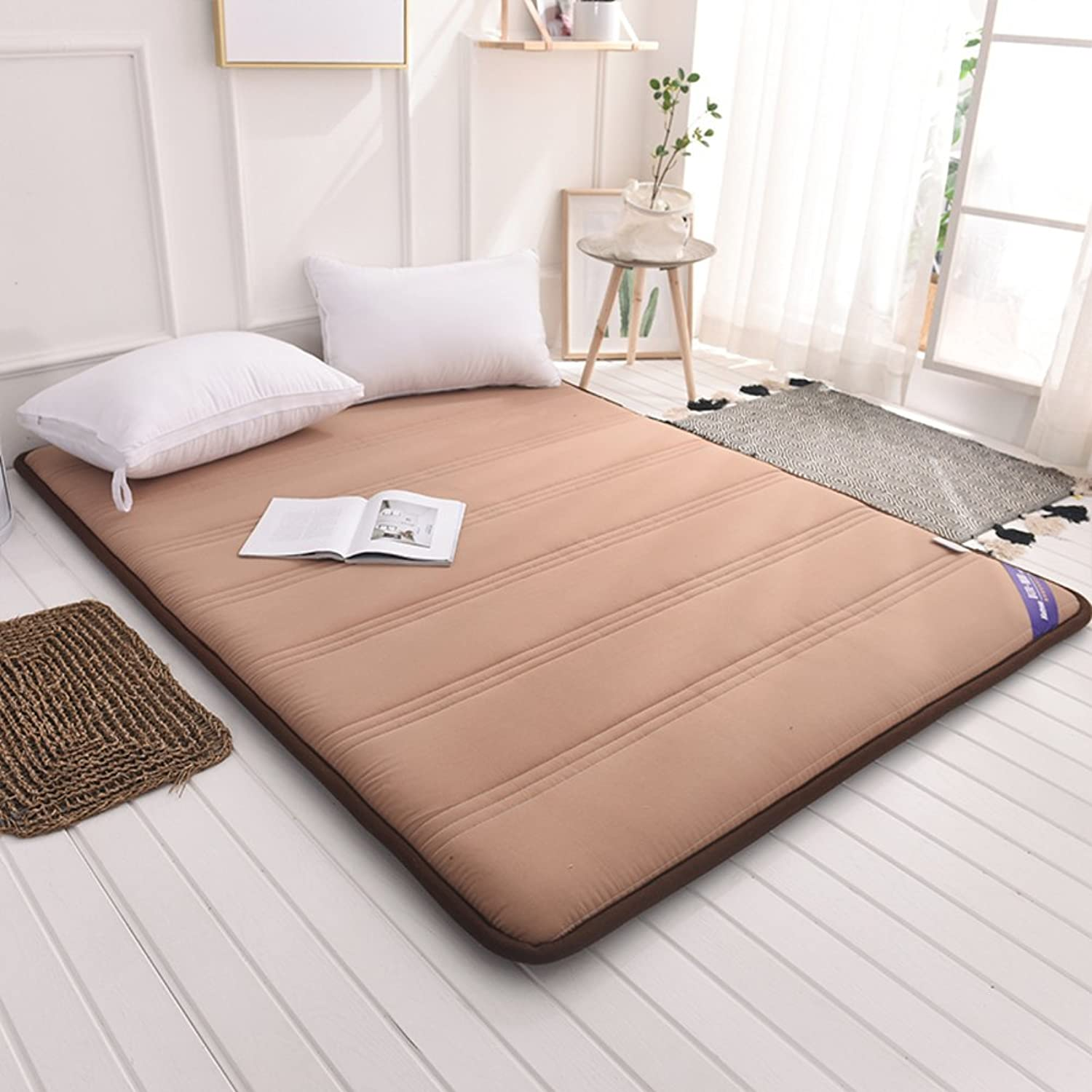 Foldable Queen Size Mattress,Tatami Floor mat Portable Sleeping pad Dorm futon Mattress Topper Quilted Bed Predection pad-A 120x200cm(47x79inch)