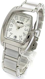 [フォリフォリ]Folli Follie 腕時計 トノー セラミック コンビ シルバー文字盤 WF5T136BDW レディース
