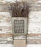 Galvanized Steel Vintage Dalton Wall Box with Towel Bar