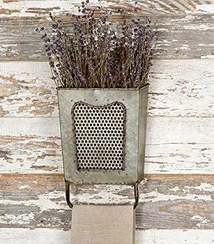 Colonial Tin Works Galvanized Steel Vintage Dalton Wall Box with Towel Bar Galvanised 7½  x 3  x 10