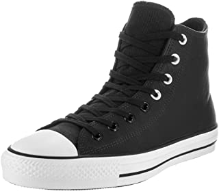 Converse Unisex Chuck Taylor All Star Pro Black and White Leather High Basketball Shoe