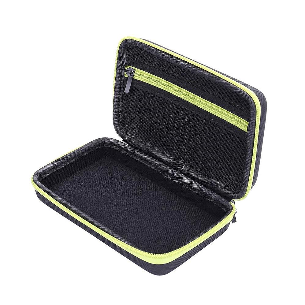 ルーム収束タイプライターSUPVOX シェーバーケース旅行電気シェーバー収納オーガナイザーキャリングバッグ(グリーンジッパー、モデルQp2530 / 2520に適用可能)