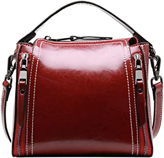 Runhuayou New Fashion Unsubdivided and Various Compact Bills Shoulder Slung Leather Handbags Great for Casual or Many Other Occasions Such (Color : Red)