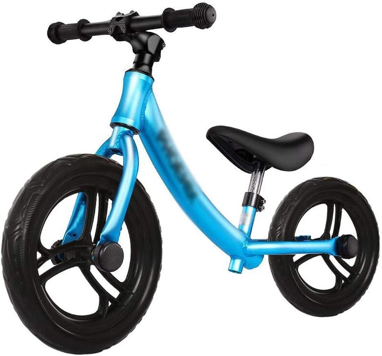 Envío rápido y el mejor servicio CQILONG-bicicleta de equilibrio Bicicletas para Niños Niños Niños Manillar Giratorio 360 Grados Marco Aleación Aluminio Neumático Goma No Es Necesario Instalar , 5 Colors ( Color   azul , Talla   85x50-60cm )  punto de venta
