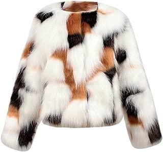Girls Faux Fur Coat, Autumn Winter Thick Warm Jacket Outwear Clothes