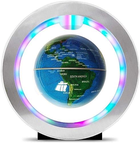 SEVEN LIFE Magnetschwebebahn Globus Kreatives Zuhause Handwerk Dekoration Praktische High-End-Geburtstagsgeschenke ( Farbe   Blau , Größe   S )