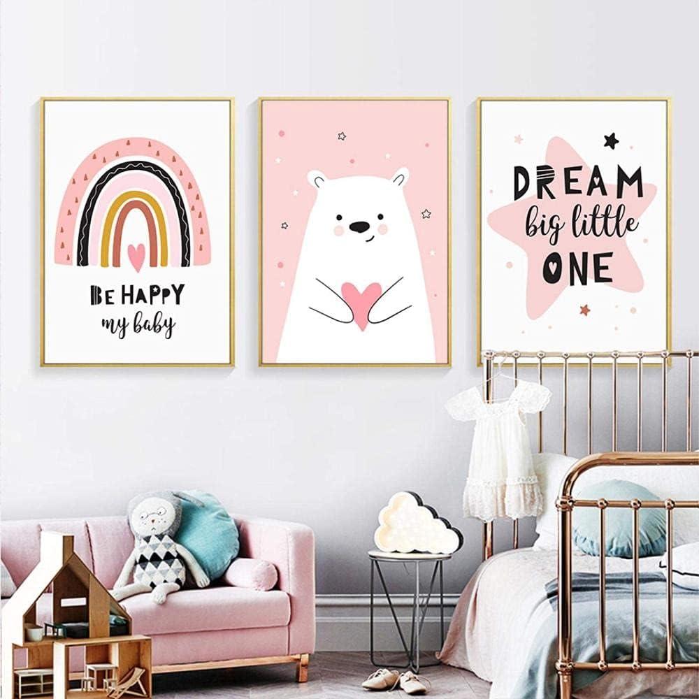 Japan Maker New FUJIAJIA Love Nippon regular agency Bear Pink Rainbow Dream Canvas Nursery Paint Happy