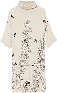 HangErFeng Dress Cashmere Knitting Printed Hand-Made Nail Bead Knitting Comfortable Long Sleeves Skirt