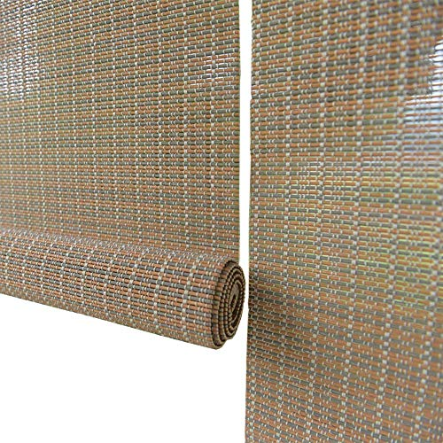 LNDDP Persianas enrollables Madera, bambú apagón Vertical Estilo japonés para la partición del salón té, 60/80/100/120/130/140 cm Ancho