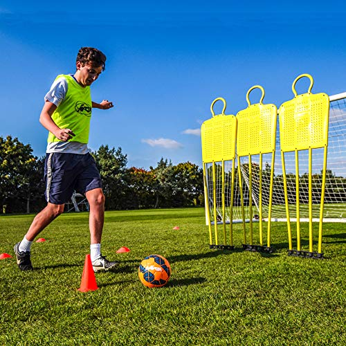 Net World Sports Forza Soccer Free-Kick Mannequins | Coaching Dummies for Juniors and Seniors (Senior, Pack of 3)
