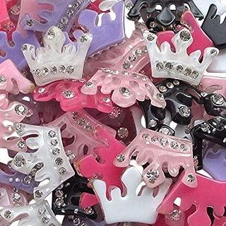 Chenkou Craft 30pcs Resin Flatback Crown Scrapbooking Mix Color