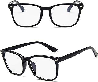 Blue Light Blocking Clear Transparent Computer Glasses Gaming Anti Blue ray Anti Eye Strain Eyeglasses Transparent Lens