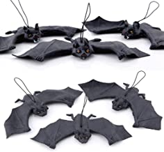 24x9cm,Thicker Halloween Bats Decoration 5PCS Set Hanging Flying Bat Red Eyes Horror Rubber Bats Trick or Treat Toys for Halloween Festival Party