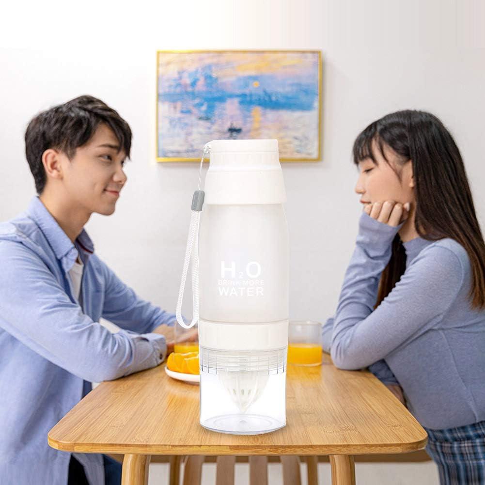 Exprimidor manual de naranja exprimidor de cocina multifuncional manual exprimidor de plástico mini jugo taza azul Blanco