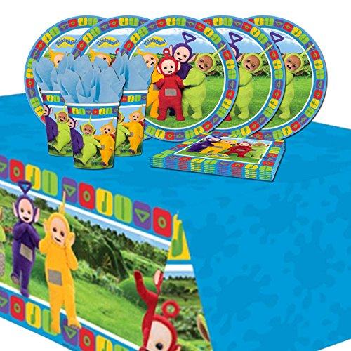 amscan Teletubbies Kit de Fiesta de vajilla de cumpleaños para niños para 16