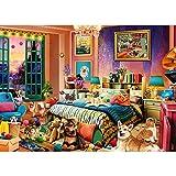 Puzzle 1000 piezas diseño de casita de cachorros, 1000 piezas, juego de rompecabezas para adultos y niños, juego de habilidad para toda la familia, multicolor (70 x 50 cm)
