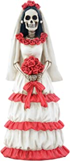 Day of The Dead DOD Red and White Bride Figurine