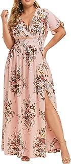 pink floral dress plus size