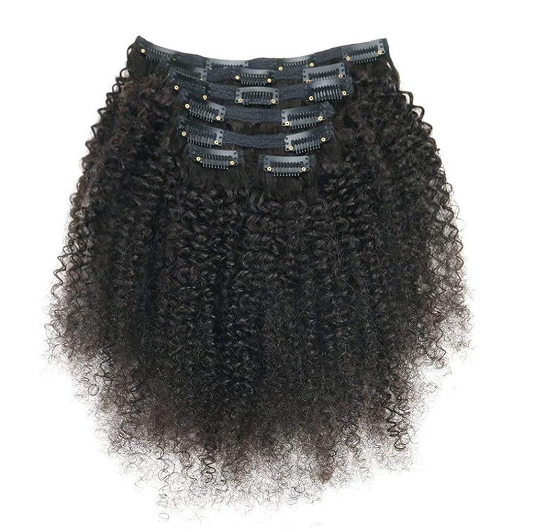 素人リール合法レミーヘアエクステンションの女性ブラジルリアルクリップ人毛フルヘッド7ピースロングカール