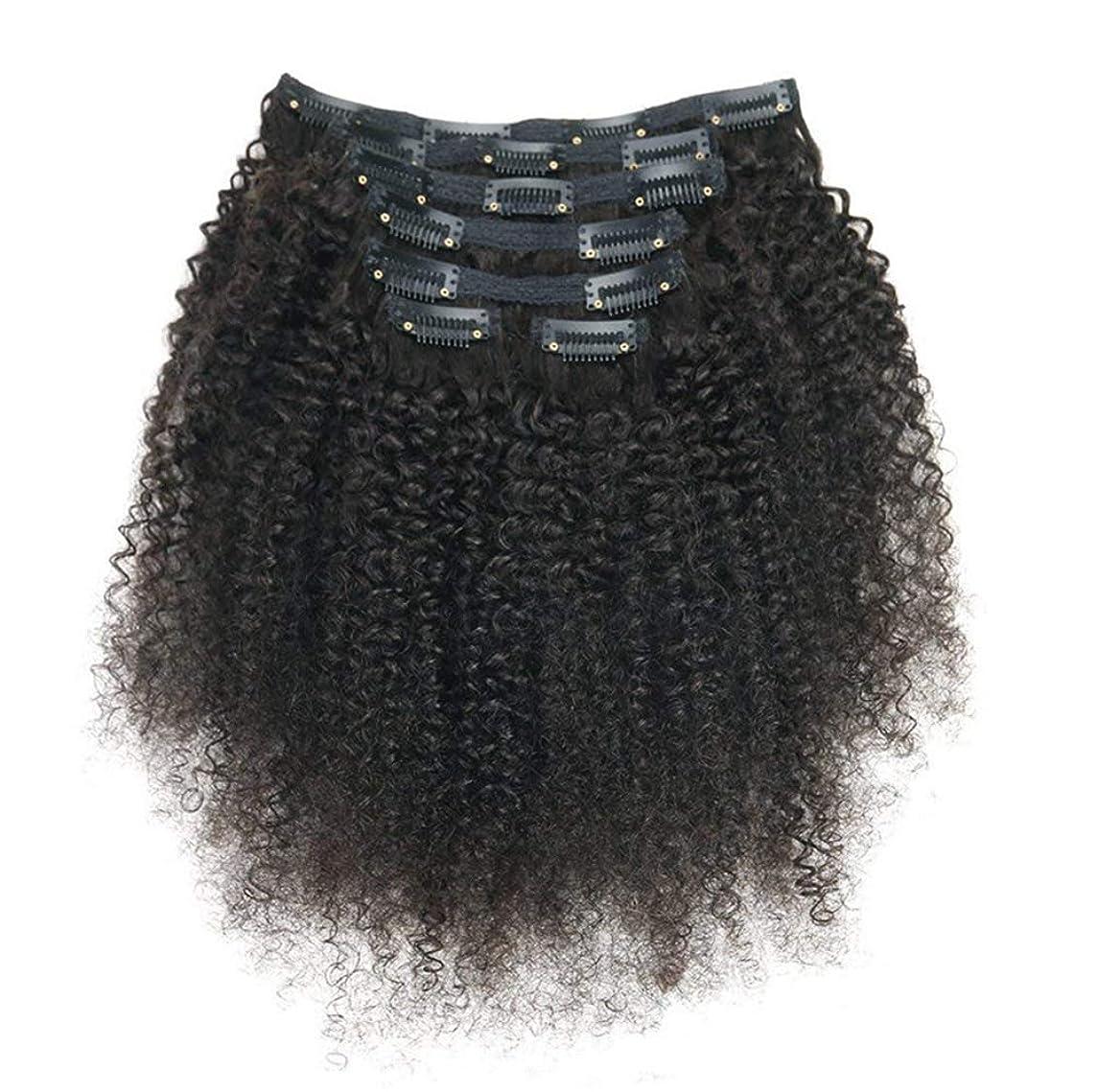 やけど日食過敏なレミーヘアエクステンションの女性ブラジルリアルクリップ人毛フルヘッド7ピースロングカール