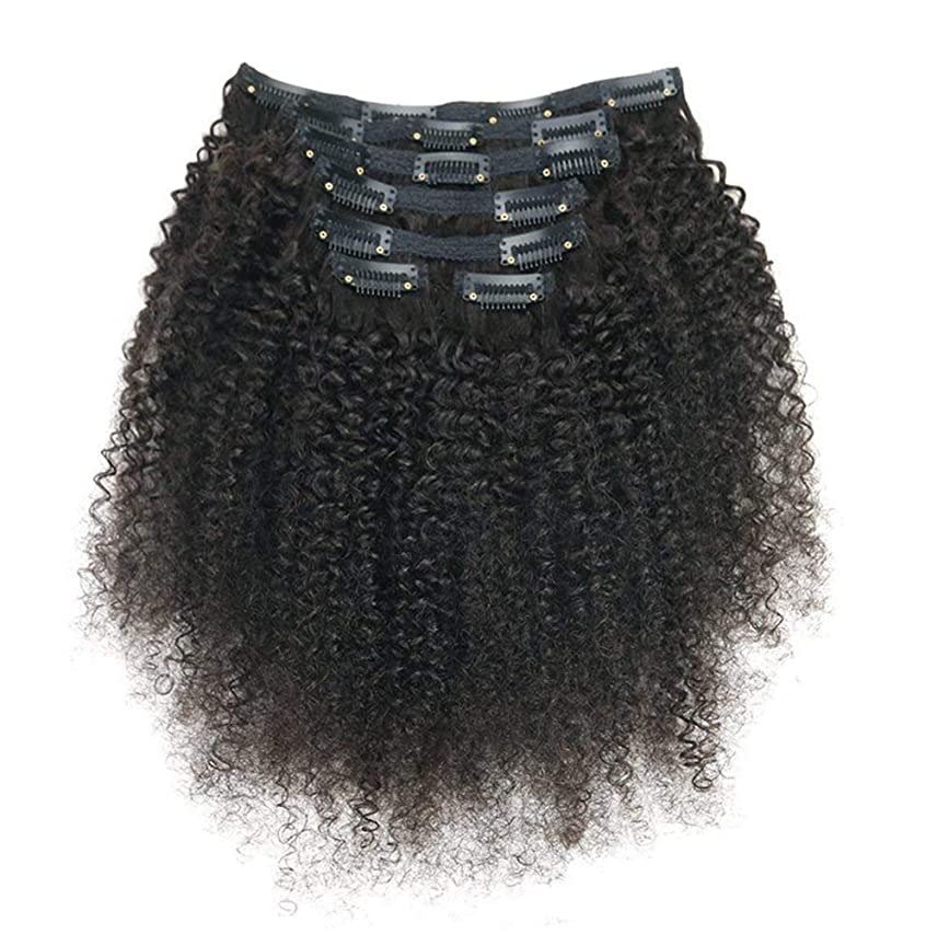 血色の良い詳細にセンチメンタルレミーヘアエクステンションの女性ブラジルリアルクリップ人毛フルヘッド7ピースロングカール