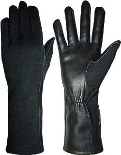 Hank's Surplus Military Style Nomex & MultiCam Pilot Flight Leather Gloves