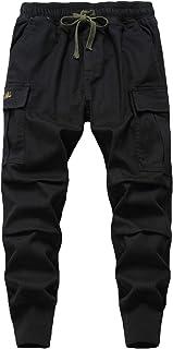 LAUSONS Pantalon Cargo Niño Cintura Elastica - Pantalones de Jogging Casual para Niños