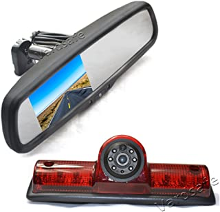 Vardsafe VS503R Third Brake Light Backup Camera & Replacement Rear View Mirror Monitor for Nissan NV 1500 2500 3500