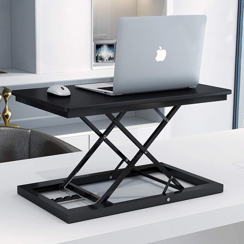 Standing Desk Height Adjustable,Portable Computer Workstation Lightweight Sit to Stand Desk Riser Desktop-B 60x35cm(24x14inch)