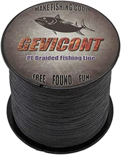 GEVICONT PE Braided Fishing Line for Outdoor Activities 4-Strands 100M/109Yards 300M/328Yards 500M/547Yards 1000M/1094Yards 6LB-100Lb 0.08mm-0.55mm Available in 10 Colors