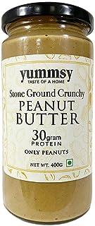 Yummsy Peanut Butter. Organic, Stone Ground, High Protein & Sugar Free. (Crunchy)