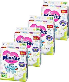 【Amazon.co.jp限定】(ケース販売) メリーズ テープ S(4~8kg) さらさらエアスルー 328枚 (82枚×4)
